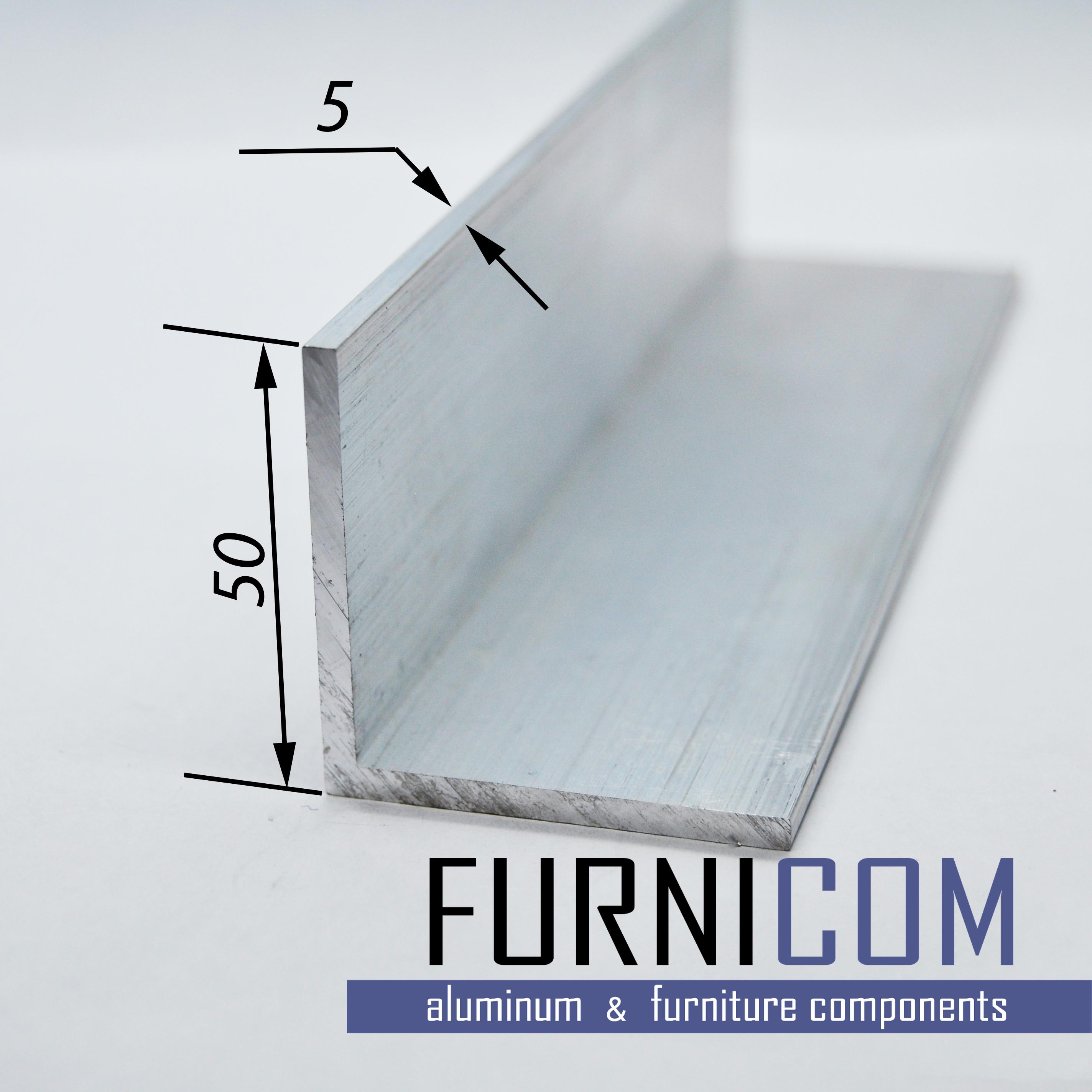 Уголок алюминиевый 50х50х5 / б.п.