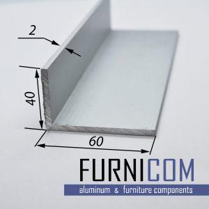 Уголок алюминиевый 60х40х2 / AS