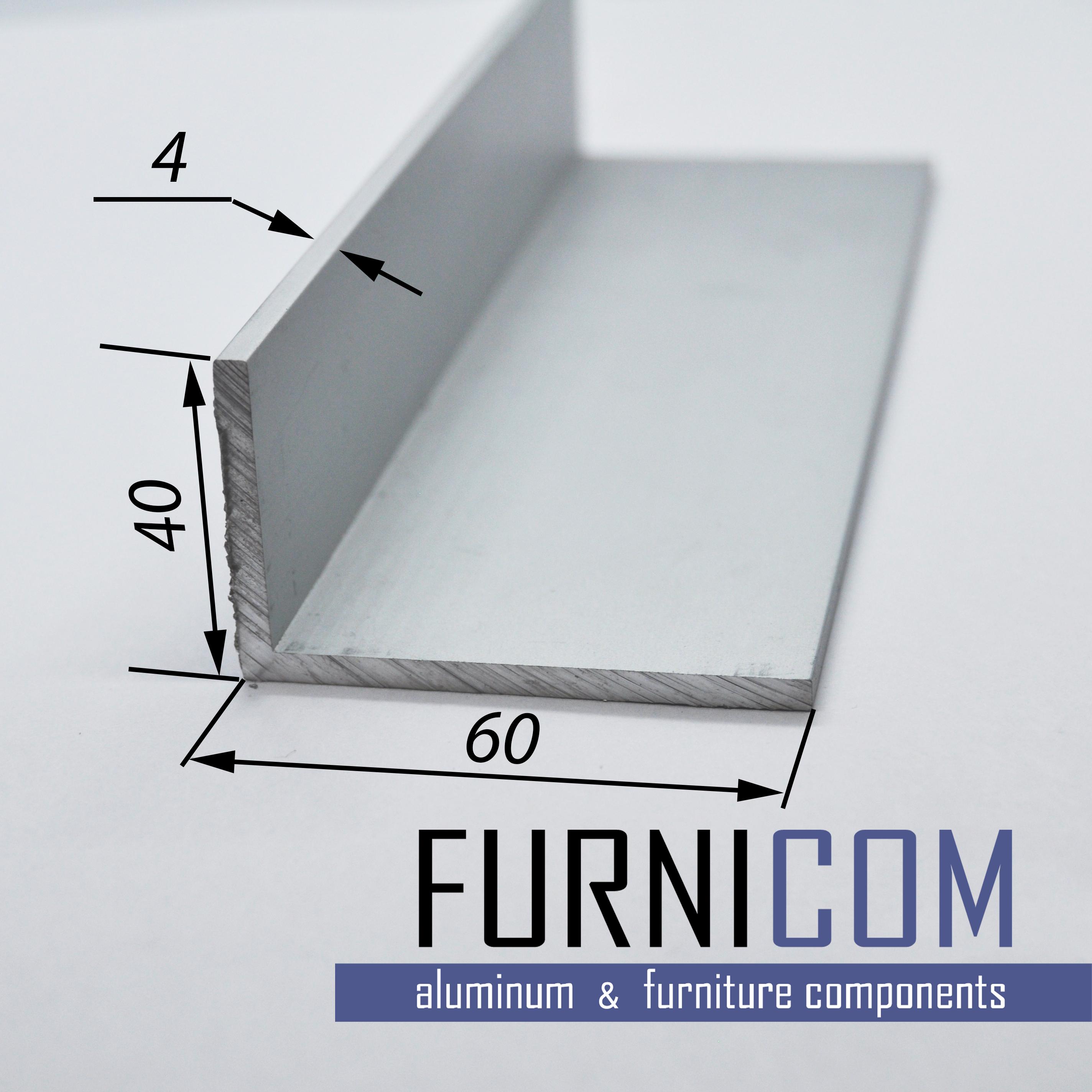 Уголок алюминиевый 60х40х4 / AS