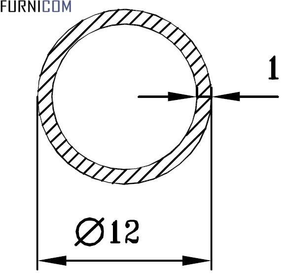 Труба алюминиевая круглая 12х1 / AS
