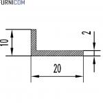 Уголок алюминиевый 20х10х2 / AS