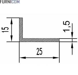 Уголок алюминиевый 25х15х1.5 / AS