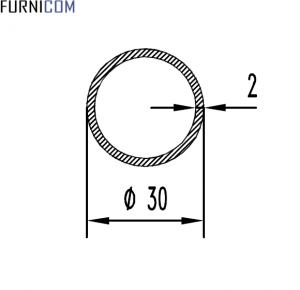 Труба алюминиевая круглая 30х2 / AS