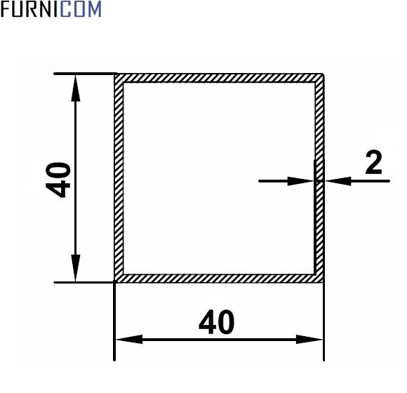 Труба алюминиевая квадратная 40х40х2 / AS