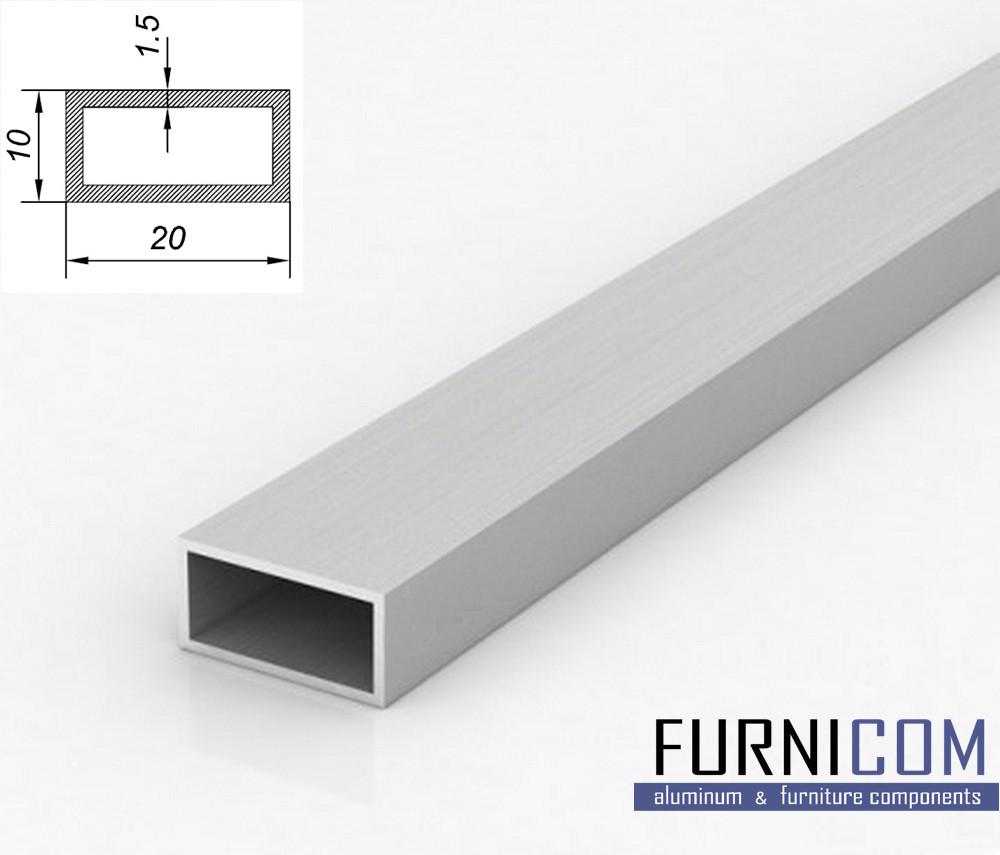 Труба алюминиевая прямоугольная 20х10х1.5 / AS