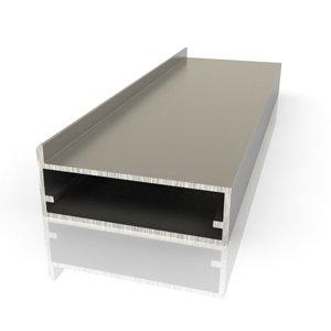 Шкаф-купе с применением алюминиевого профиля