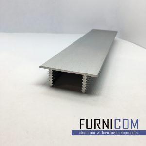 Профиль дверного полотна торцевой П-образный алюминиевый / AS