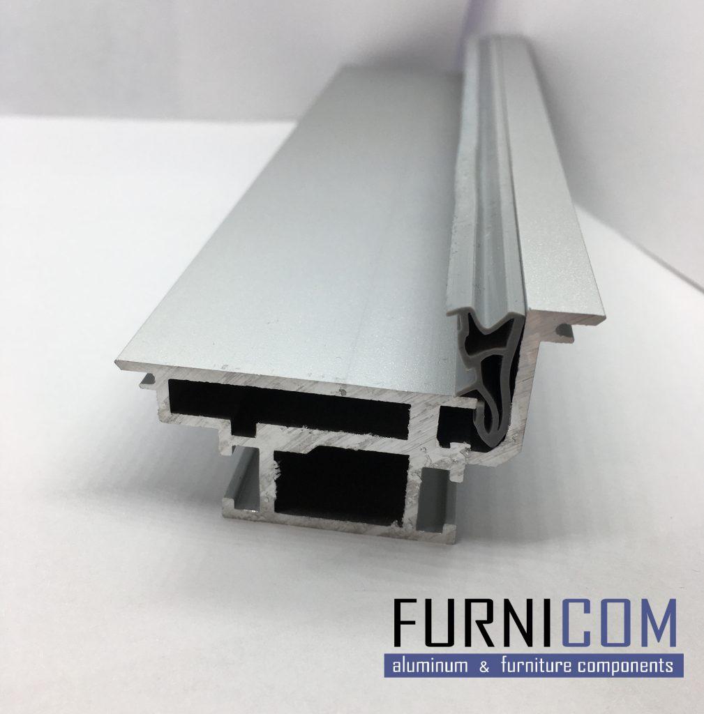 Алюминиевый профиль для дверей скрытого монтажа
