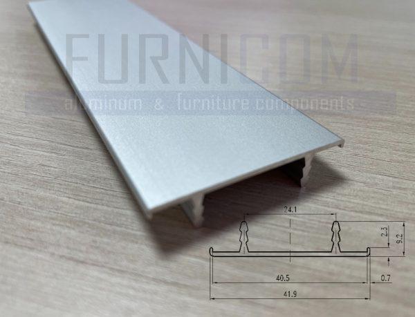 Алюминиевый С-профиль для обрамления полотна 40 мм с загибами