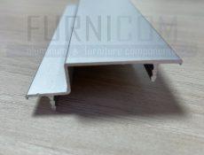 Алюминиевый С-профиль для обрамления полотна 56 мм с загибами
